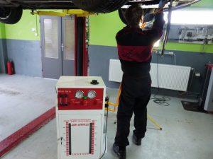 preplach automatickej prevodovky počas výmeny oleja